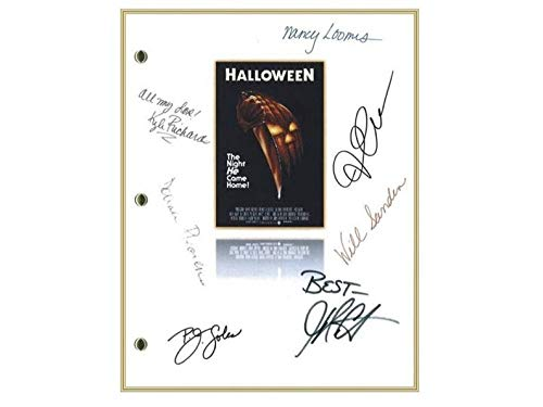 NHMug Halloween Entire Movie Script Signed Screenplay Poster Gifts for Lovers Poster [No Framed] Poster Home Art Wall Posters (16x24) -