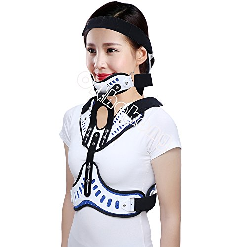 Head Neck Chest Orthosis Adjustable Cervical Thoracic Orthosis U Lumbar Support (Angle Adjustable Breathable) by Orthokong