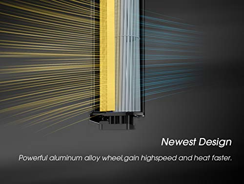 Pelonis Ceramic Space Heater Oscillating Tower Heater Fan