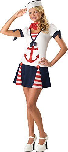 1940s Halloween Costumes (In Character New Teen Girls Cute 40s Navy Sailor Halloween Costume S)