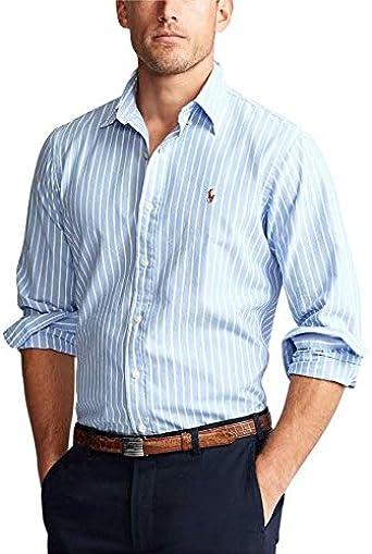 Ralph Lauren Camisa Azul Rayas Blancas para Hombre S: Amazon.es: Ropa y accesorios