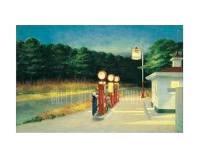 (11x14) Edward Hopper Gas 1940 Art Print Poster