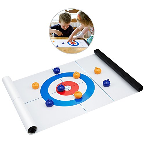 KUYOU Tabletop Curling Game, Compact Curling Board Game Portable Mini Tabletop Games for Family/School/Travel/Best Parent-child Games by KUYOU