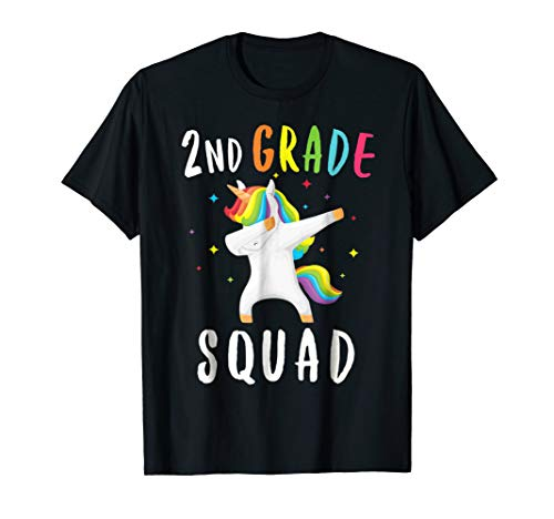 2nd Grade Squad Unicorn Shirt Second Grade Teacher T Shirt