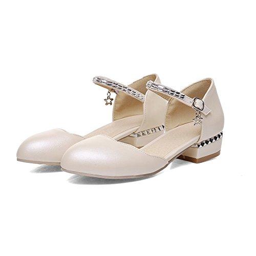 Adee - Sandalias de vestir para mujer albaricoque