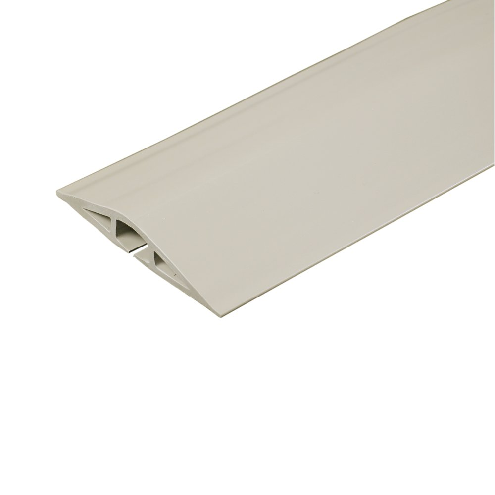 Legrand - Wiremold CDI-5 Corduct Overfloor Cord Protector- Rubber Duct Floor Cord Cover, Ivory, 5 Feet (60 Inches)