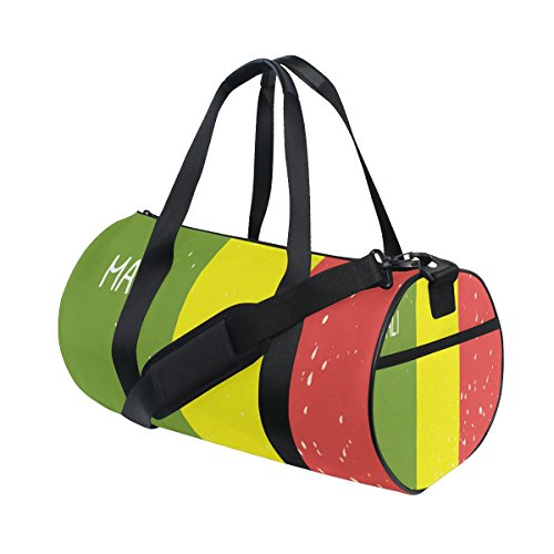 Distressed Mali Flag Travel Duffel Shoulder Bag ,Sports Gym Fitness Bags by super3Dprinted