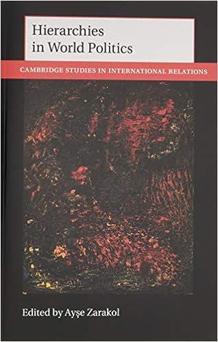 Hierarchies in World Politics (Cambridge Studies in International