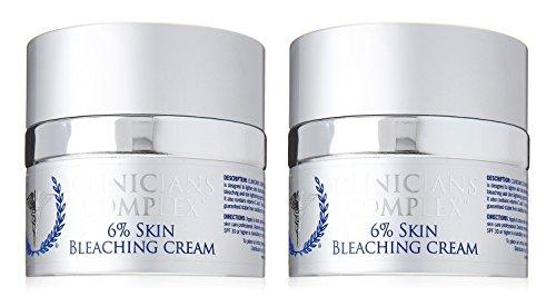 Clinicians Complex 6% Skin Bleaching Cream 2 oz (Set of 2)…