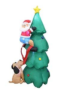 AstiVita Inflatable Christmas Tree 1.8m - with Santa Claus