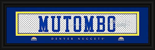 Prints Charming Legend Denver Nuggets Mutombo Framed Posters 22x6 ()