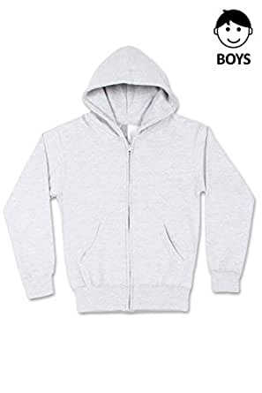 Boys Hipster Hip Hop Classic Basic Unisex Zip-Up Hoodie HGREY Jacket X-Small