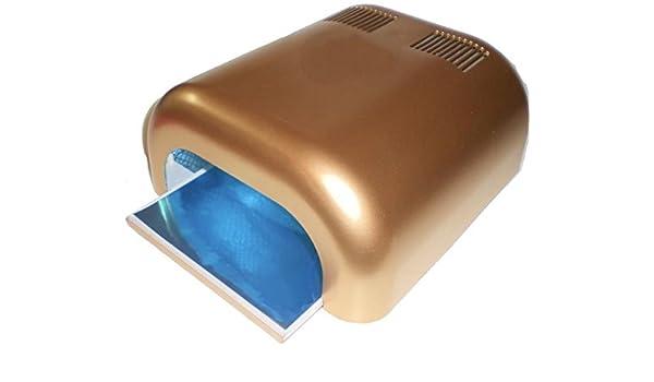 luz ultravioleta para endurecimiento profesional de túnel dispositivo 4 x 9 W ° Oro ° (4 x 9 W de tubos incluidas.): Amazon.es: Belleza
