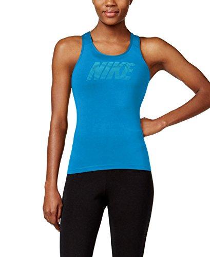 Nike Pro Cool Logo Graphic Tank Top, Blue, XL