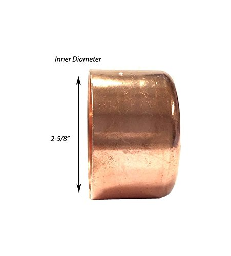 Libra Supply 2-1/2'',2-1/2 inch, 2-1/2-inch Copper Sweat Cap, (click in for more size options)Copper Pressure Pipe Fitting Plumbing Supply by Libra Supply