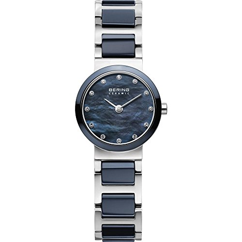 BERING Time 10725-789 Women's Ceramic Collection Watch with Ceramic Link Band and scratch resistant sapphire crystal. Designed in Denmark.