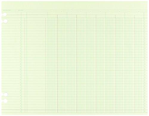 70 OFF Wilson Jones Green Columnar Ruled Ledger Paper 10 Columns
