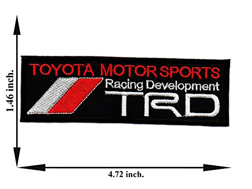 Black TRD Toyota Motor Sports Racing Development Car Automobile Logo Applique Iron-on Patch Embroidered Sew T-shirt