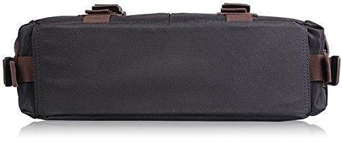 AB Earth - Bolso bandolera hombre, Noir-pochette pour ordinateur portable (Varios colores) (Negro)