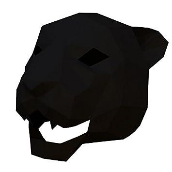PromMask Mascara Facial Careta Protector de Cara dominó Frente Falso Jaguar Cabeza de Tigre máscara Maquillaje