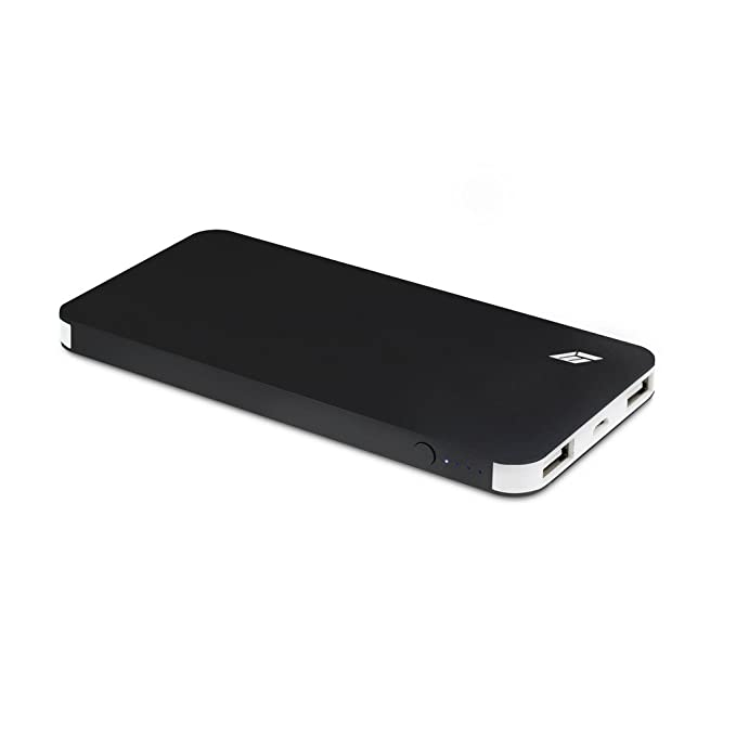 Batería externa 4000 mAh - Cargador móvil portátil Batería externa con 2 puertos y cable Micro USB - Power Bank Doble USB para para iPhone 7, iPad, ...