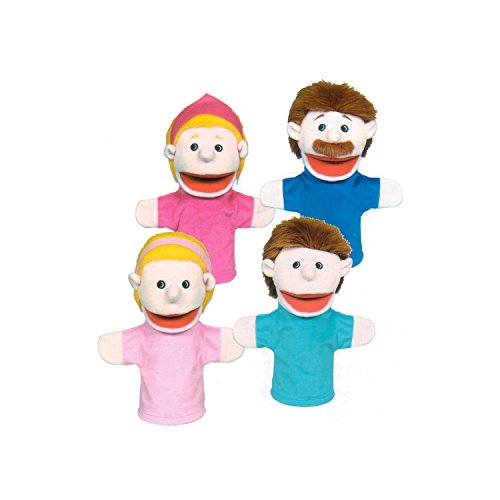 Get Ready Kids Caucasian Family Puppets Caucasian Family Puppet Set