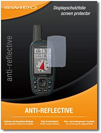 Pellicola protettiva antiriflesso per Garmin GPSMAP 64x 2 pezzi Swido