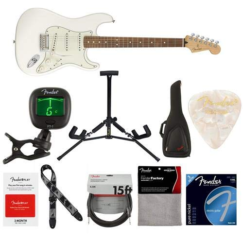 Fender Player Stratocaster Electric Guitar, 22 Frets, Modern