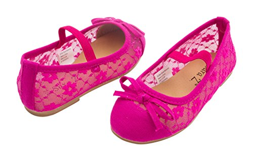 BABY STEPS Flower Ribbon Baby Girl Shoes (Pink) - 4