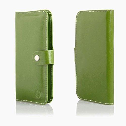 Bookstyle Handytasche Flip Case Wallet geeignet für Motorola Moto G5S Plus - Handy Schutz Hülle Etui Schale Cover Book Case Portemonnaie grün