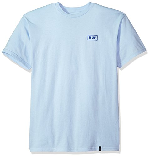 HUF Men's Bar Logo S/s Tee, Light Blue, (Bar Logo Tee)