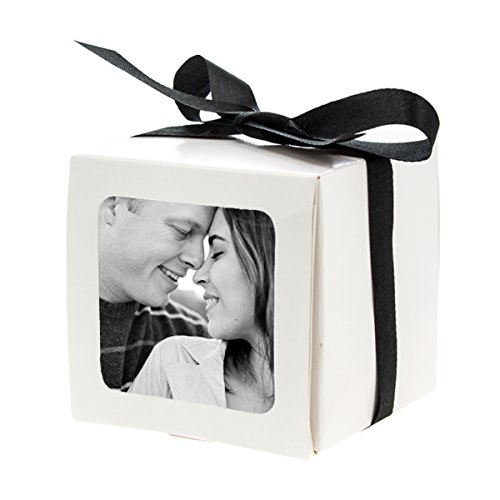 15 Photo Party Favor Boxes Wedding Table Custom Gift Picture Treat Decoration