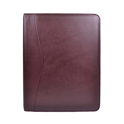Royce Leather Zip Around Writing Padfolio, Burgandy by Royce Leather