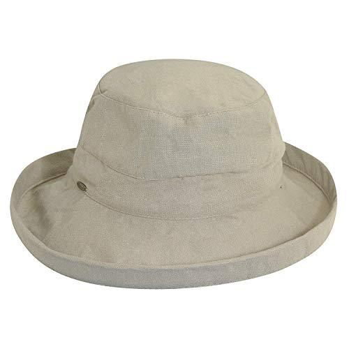 SCALA Women's Medium Brim Cotton Hat, Desert, One ()