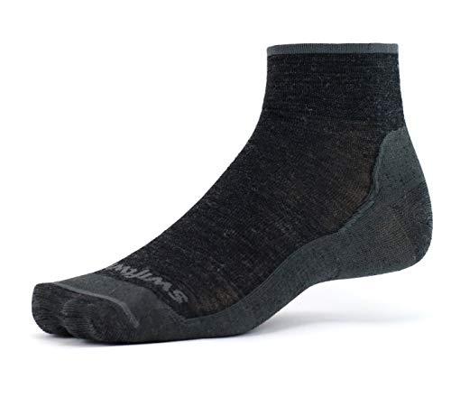 Swiftwick- Socks for Hiking & Trail Running- Pursuit Hike Two-Ultra-Light  Merino Wool Socks