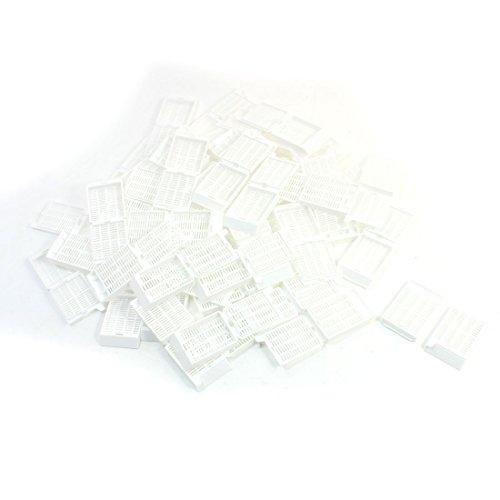50Pcs White Histology Tissue Embedding Cassette Hinge-lock Strip Hole (Cassettes Tissue)