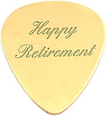 Grabada Jubilación Feliz 18k chapada en oro púa de guitarra ...
