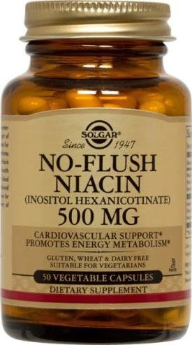 No-Flush Niacin 500mg Solgar 50 VCaps For Sale