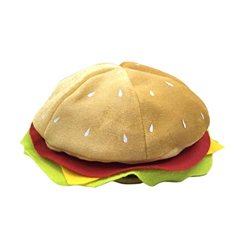Ladeyi Food Hats Burgers Hats Halloween Christmas Costumes Parties Costumes Costumes Funny Hats Pizza Hamburger Hot Dog Costume Party Dress Up (OPP)]()