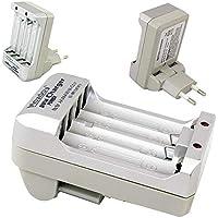 kit pilhas carregador de pilhas bivolt mais pilhas recarregáveis sendo 2 AA e 2 AAA maxday