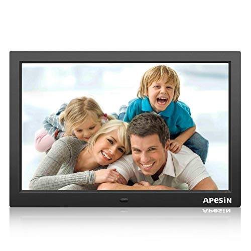 Digital Photo Frame, APESIN 15.4 inch 1440 x 900 Pixels HD Screen(Black) by APESIN