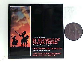Orquesta Nacional De España, Ataulfo Argenta* – El Retablo De Maese Pedro / Concierto De Clavecin: De Falla, Manuel: Amazon.es: Música