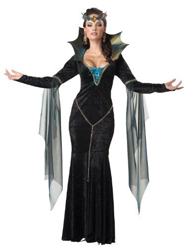 Villain Couples Costumes (California Costumes Women's Evil Sorceress Adult, Black/Turquoise,)