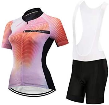 女性用半袖サイクリングジャージーサイクリングシャツクイックドライ通気性マウンテンウェア