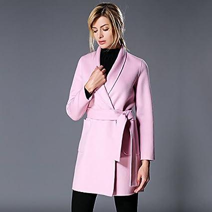 Womens HIDRRU Lana Cashmere abrigo 2017 abrigo de cachemir, largo, busque una a dos
