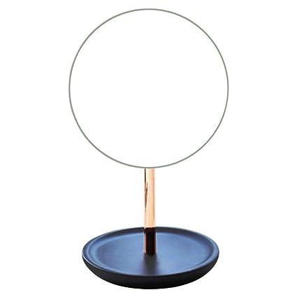 ZMJZHZJ Home Desktop Vanity Mirror Makeup Mirror Stand Up Mirror Portable  Mirror Gold   Adjustable