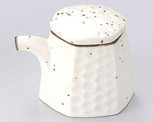 Mikage Hexagon 2.4inch Set of 10 Soy Sauce Dispensers White porcelain Made in Japan by Watou.asia