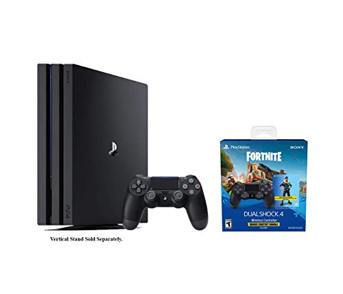 Playstation 4 Fortnite Pro Bundle: Playstation Exclusive Royale Bomber Outfit, 500 V-Bucks, Playstation 4 Pro TB Console with Extra DUALSHOCK 4 Wireless Controller – Black