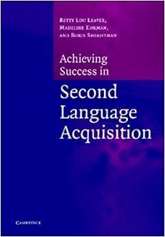 Book Achiev Success Second Lang Acquisit