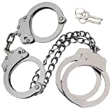 Professional Grade Handcuffs & Leg Cuffs - Stainless Steel - Silver